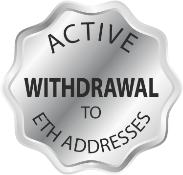 Active withdrawal to personal ETH addresses!
